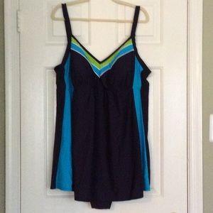 🌟HP🌟Delta Burke Stripe Plus Swimsuit 26W